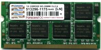 Оперативная память 1GB DDR PC2700 SO-DIMM CL2.5 OEM Transcend TS128MSD64V3A
