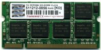 Оперативная память 1GB DDR PC2100 SO-DIMM CL2.5 Transcend TS128MSD64V6A