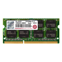 Оперативная память 4 GB DDR3 PC3-12800(1600MHz) SO-DIMM Non-ECC 2Rx8 CL11 Transcend TS512MSK64V6N